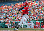 23 July 2016: Washington Nationals outfielder Bryce Harper in action against the San Diego Padres at Nationals Park in Washington, DC. The Nationals defeated the Padres 3-2 to tie their series at one game apiece. Mandatory Credit: Ed Wolfstein Photo *** RAW (NEF) Image File Available ***