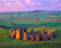 Drombeg Stone Circle, County Cork, Republic of Ireland      Stone alignment from 1,000 bc  West Cork Region
