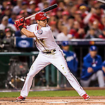 13 October 2016: Washington Nationals outfielder Trea Turner in action during Game 5 of the NLDS against the Los Angeles Dodgers at Nationals Park in Washington, DC. The Dodgers edged out the Nationals 4-3, to take Game 5 of the Series, 3 games to 2, and move on to the National League Championship Series against the Chicago Cubs. Mandatory Credit: Ed Wolfstein Photo *** RAW (NEF) Image File Available ***