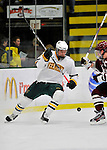 22 November 2011: University of Vermont Catamount defenseman Blake Doerring, a Freshman from Chanhassen, MN, in action against the University of Massachusetts Minutemen at Gutterson Fieldhouse in Burlington, Vermont. The Catamounts defeated the Minutemen 2-1 in their annual pre-Thanksgiving meeting of the Hockey East season. Mandatory Credit: Ed Wolfstein Photo