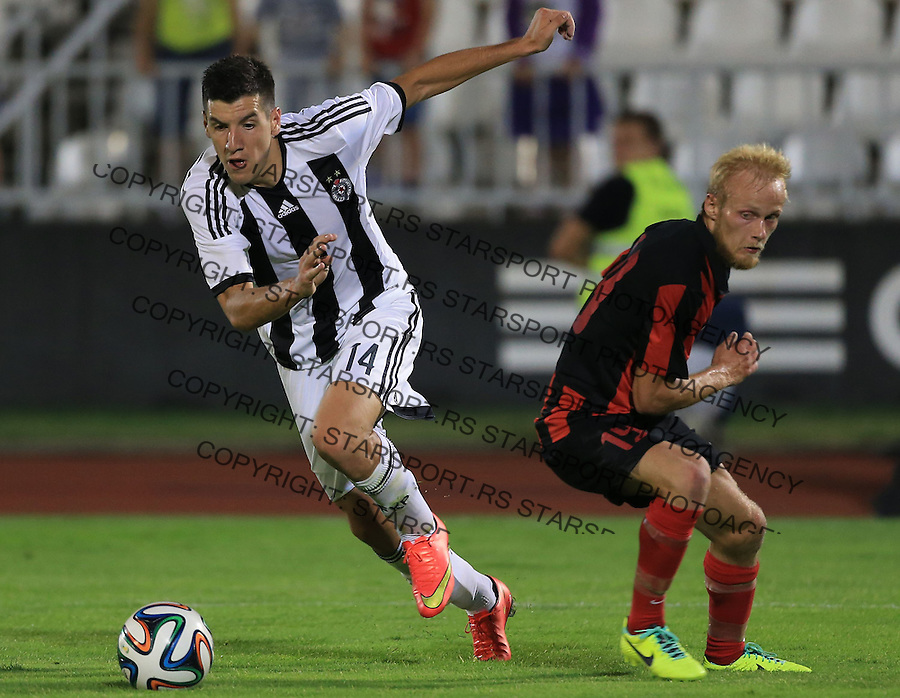 Fudbal Football Soccer<br /> UEFA Champions league-2nd qualifying round<br /> Partizan v HB Torshavn (Faroe Islands)<br /> Petar Grbic (L)<br /> Beograd, 07.15.2014.<br /> foto: Srdjan Stevanovic/Starsportphoto &copy;