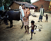 One of the protesting villager, Daka Majhi poses for a photo outside his house in Lanjigarh. Vedanta has been negotiating to buy some of his land but Daka has refused to sell his land to Vedanta. Six acres of his land (inside the refinery area) was forcibly bought from him in the past.