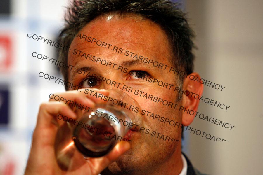 Serbian national football team head coach Sinisa Mihajlovic at the press conference after signing ceremony in Stara Pazova, Serbia, Monday,  May 21, 2012. (credit & photo: Pedja Milosavljevic / +381 64 1260 959 / thepedja@gmail.com)