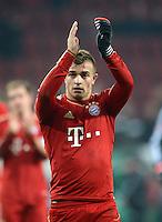 FUSSBALL  DFB-POKAL  ACHTELFINALE  SAISON 2012/2013    FC Augsburg - FC Bayern Muenchen        18.12.2012 Jubel nach dem Sieg, Xherdan Shaqiri (FC Bayern Muenchen)