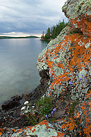 Lake Superior shoreline at Isle Royale National Park.