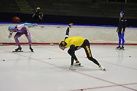 SCHAATSEN: HEERENVEEN: 25-10-2014, IJsstadion Thialf, Trainingswedstrijd schaatsen, Kjeld Nuis, ©foto Martin de Jong