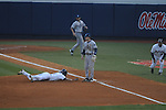 Ole Miss' Will Jamison (4) is safe at third vs. Rhode Island at Oxford-University Stadium in Oxford, Miss. on Friday, February 22, 2013. Ole Miss won 8-1 to improve to 5-0.