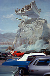 Mural on Parking Lot Wall, West L.A., 1977
