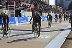 Riders finish the 115th edition of the Paris-Roubaix 2017 race running 257km from Compiegne to Roubaix, France. 9th April 2017.<br /> Picture: Eoin Clarke | Cyclefile<br /> <br /> <br /> All photos usage must carry mandatory copyright credit (&copy; Cyclefile | Eoin Clarke)