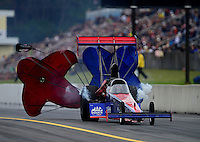 Oct. 7, 2012; Mohnton, PA, USA: NHRA top fuel dragster driver Ike Maier during qualifying for the Auto Plus Nationals at Maple Grove Raceway. Mandatory Credit: Mark J. Rebilas-