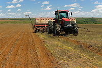 Mechanized agriculture: Maize sowing (seeding, planting) machine, southern Goiás State, Brazil, in formerly savanna (cerrado) biome.