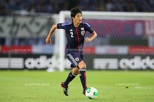 Atsuto Uchida (JPN), AUGUST 14, 2013 - Football / Soccer : <br /> KIRIN Challenge Cup 2013 match <br /> between Japan 2-4 Uruguay <br /> at Miyagi Stadium, Miyagi, Japan.<br />  (Photo by AFLO SPORT)