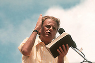 June 1972, Dallas, Texas, USA <br /> American protestant evangelist Billy Graham on stage during the Explo '72, an evangelical conference sponsored by Campus Crusade for Christ, which was described as &quot;a religious Woodstock&quot;.