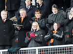 Dundee United v St Johnstone....21.11.15  SPFL,  Tannadice, Dundee<br /> Lorraine Kelly applauds the Dundee United players as they walk out onto the pitch<br /> Picture by Graeme Hart.<br /> Copyright Perthshire Picture Agency<br /> Tel: 01738 623350  Mobile: 07990 594431