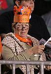 A Clemson Tigers fan on Wednesday, November 9th, 2005 at SAS Stadium in Cary, North Carolina. The Clemson Tigers defeated the University of Virginia Cavaliers 4-1 during their Atlantic Coast Conference Tournament Quarterfinal game.