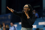 03 January 2016: Clemson head coach Audra Smith. The University of North Carolina Tar Heels hosted the Clemson University Tigers at Carmichael Arena in Chapel Hill, North Carolina in a 2015-16 NCAA Division I Women's Basketball game. UNC won the game 72-56.