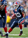 30 September 2007: Buffalo Bills rookie running back Marshawn Lynch in action against the New York Jets at Ralph Wilson Stadium in Orchard Park, NY. The Bills defeated the Jets 17-14 for their first win of the 2007 season...Mandatory Photo Credit: Ed Wolfstein Photo for UPI