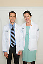 William Manning, left, Sarah Manning. Class of 2017 White Coat Ceremony.