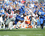 Ole Miss vs. Kentucky's CoShik Williams (26) at Commonwealth Stadium in Lexington, Ky. on Saturday, November 5, 2011. Kentucky won 30-13...