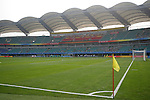 06 August 2008: Qinhuangdao Olympic Center Stadium. The women's Olympic team of New Zealand tied the women's Olympic soccer team of Japan 2-2 at Qinhuangdao Olympic Center Stadium in Qinhuangdao, China in a Group G round-robin match in the Women's Olympic Football competition.