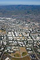 aerial photograph San Jose, Santa Clara county,Silicon Valley, California