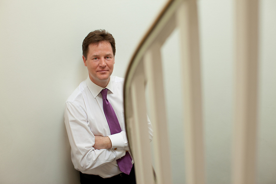 British Deputy Prime Minister and leader of the Liberal Democrats, Nick Clegg MP. Pictured April 2011..Photography © Martin Beddall