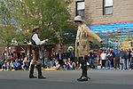 WY: Wyoming, Cody: Buffalo Bill impersonator and villain in shootout...Photo #: yellow524..Photo copyright Lee Foster, 510/549-2202, lee@fostertravel.com, www.fostertravel.com..