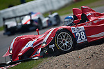 Courage AER #28 LMP2, Jose Ibanez-Frederic DaRocha-William Cavailhes, Team Ibanez Racing Service, during the first lap of the Qualifying Practice, stopped in gravel after an error, Saturday, May 9, 2009 , in Spa-Francorchamps, Belgium. The car will not finish the race, stop after 102 laps (Valentin Bianchi/pressphotointl.com)
