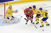 Jacob Markstr&ouml;m (Sweden - 25), Brett Sonne (Canada - 12), Anton Persson (Sweden - 17), Erik Karlsson (Sweden - 5) - Canada defeated Sweden 5-1 (2 en) in the 2009 World Junior Championship gold medal game on Monday, January 5, 2009, at Scotiabank Place in Kanata (Ottawa), Ontario.  This was the second consecutive year that Canada won gold and Sweden won silver after Canada defeated Sweden in overtime in 2008 and was Canada's fifth consecutive gold.