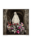 Shrine and flowers, San Buenaventura by Larry Angier.