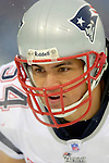 New England Patriots linebacker Tedy Bruschi prepares for play against the Buffalo Bills at Ralph Wilson Stadium in Orchard Park, NY, on December 11, 2005 . The Patriots defeated the Bills 35-7. Mandatory Photo Credit: Ed Wolfstein