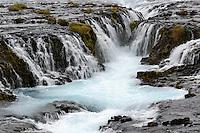 Wallerfall Bruarafoss, waterfall Bruarafoss, Haukadalur, Suedwest island, Southwest Iceland2