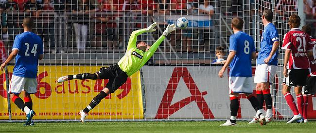 Allan McGregor makes a flying save to deny FC Nurnburg