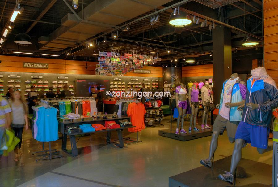 Nike, Sporting Goods, Santa Monica Place, shopping mall, open-air design,  shopping mall; Department Stores, Santa Monica; CA;