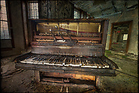 Piano in an abandoned mental asylum