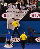 AMBIENCE<br /> <br /> Tennis - Australian Open 2015 - Grand Slam -  Melbourne Park - Melbourne - Victoria - Australia  - 1 February 2015. <br /> &copy; AMN IMAGES