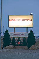 Haliburton office, Prudhoe Bay, Arctic, Alaska