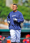 9 March 2012: Detroit Tigers infielder Miguel Cabrera awaits his turn in the batting cage prior to a Spring Training game against the Philadelphia Phillies at Joker Marchant Stadium in Lakeland, Florida. The Phillies defeated the Tigers 7-5 in Grapefruit League action. Mandatory Credit: Ed Wolfstein Photo