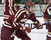 Travis Jeke (BC - 8) - The Boston College Eagles defeated the Harvard University Crimson 4-1 in the opening round of the 2013 Beanpot tournament on Monday, February 4, 2013, at TD Garden in Boston, Massachusetts.
