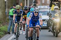 Yves Lampaert (BEL/QuickStep Floors) leading the race leaders up Tiegemberg<br /> <br /> 72nd Dwars Door Vlaanderen (1.UWT)<br /> 1day race: Roeselare &rsaquo; Waregem BEL (203.4km)