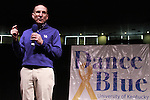 University of Kentucky President Eli Capilouto addresses the dancers at the beginning of DanceBlue on March 3, 2012 in Memorial Coliseum.