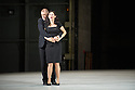 Oper Frankfurt presents BLUEBEARD'S CASTLE, by Bartok,  as part of the Edinburgh International Festival. Robert Hayward as Bluebeard and Anja Ariane Baumgartner as Judith. Photograph © Jane Hobson.
