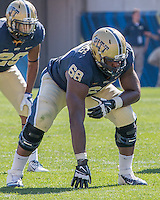 Pitt offensive tackle T.J. Clemmings (68). The Akron Zips Defeated the Pitt Panthers 21-10 at Heinz Field, Pittsburgh. Pennsylvania on September 27, 2014.