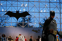 New York City, NY. 10 October 2014. A raveler drees up as Batman takes part during the 2014 New York Comic Con fair at the Jacob Javits Center. Photo by Kena Betancur/VIEWpress