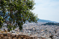 Greece, Athens. View of Athens from the famous Acropolis.