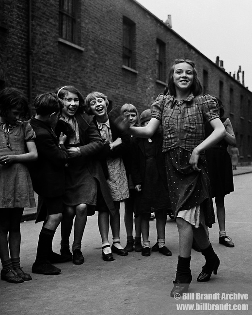 East End girl dancing Lambeth Walk, 1939