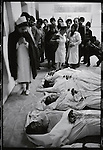 The bodies of five people killed in the street fighting lie at the morgue. Tehran, January 28, 1979