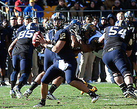 Pitt quarterback Tino Sunseri (12). The WVU Mountaineers defeated the Pitt Panthers 35-10 at Heinz Field, Pittsburgh, Pennsylvania on November 26, 2010.