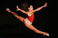Liisa Rakovski of Estonia split leaps during her gala exhibition at 2006 Portimao World Cup of Rhythmic Gymnastics on September 10, 2006.  (Photo by Tom Theobald)