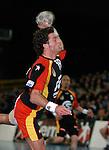 Handball Herren, Laenderspiel, UNIVERSA-CUP Hanns-Martin-Schleyerhalle Stuttgart (Germany) Nationalmannschaften, Deutschland - Tschechien Florian Kehrmann (GER) beim Wurf